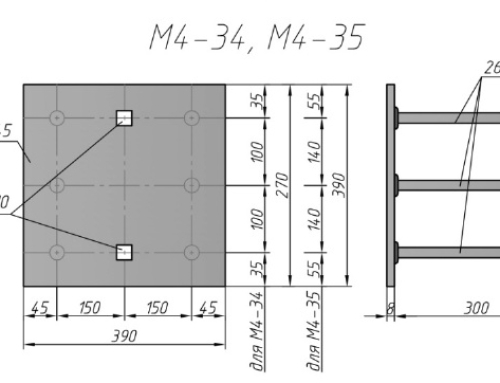 Закладная деталь М4-32, М4-33, М4-34, М4-35